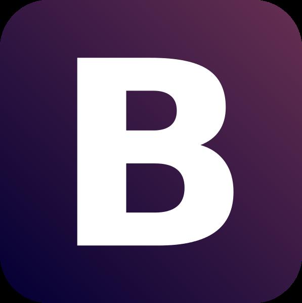 twitter bootstrap web development logo
