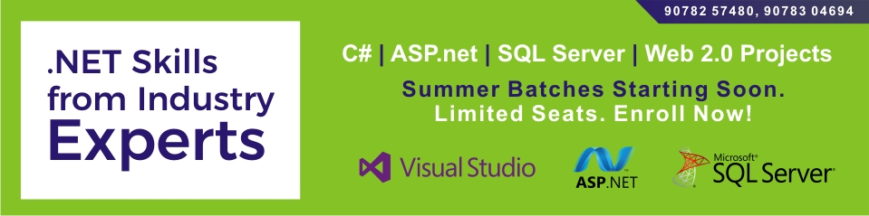 C#, ASP.net, SQL Server, Web 2.0 Project Development Training